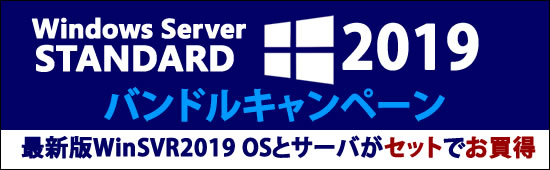 Windows Server 2019 Standardバンドルモデル!