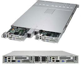 SUPERMICRO SuperServer SYS-1028TP-DC1TR (E5-2600/2ノード/1U)